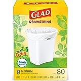 Glad Medium Kitchen Drawstring Trash Bags 8 Gallon White Trash Bag, Gain Original Scent (Package May Vary), Fresh, 80.0 Count