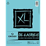 Canson XL Series Oil and Acrylic Paper Pad, Bleed Proof Canvas Like Texture, Fold Over, 136 pounds, 9 x 12 inches, White, 24