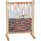 Melissa & Doug Wooden Multi-Craft Weaving Loom (Arts & Crafts, Extra-Large Frame, Frustration-Free Packaging, Great Gift for