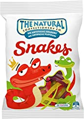 The Natural Confectionary Co. Snakes Jellies, 260g