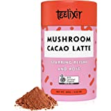 Teelixir Mushroom Raw Cacao Latte (100 g) Certified Organic Hot Chocolate Drink Mix with Reishi Superfood Extract Powder and