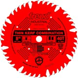 Freud LU83R008 8-Inch 40 Tooth ATB Thin Kerf Combination Saw Blade with 5/8-Inch Arbor and PermaShield Coating