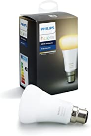 Philips Hue White Ambiance Bayonet Cap (B22) Dimmable LED Smart Bulb (Compatible with Amazon Alexa, Apple HomeKit, and Googl