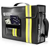 """ALORVA Fireproof Document Bag with Wallet Protector, 17"""" x 12"""" x 5"""" - Extra Strength, Waterproof Storage Safe Organizer Bags"""