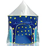 Rocket Ship Play Tent for Boys – Rocket Ship Tent, Astronaut Space Tent for Kids w/ Projector Toy for Indoor Outdoor Kids Pop
