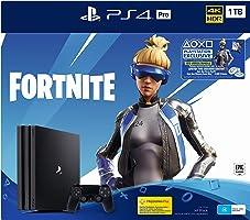 PS4 Pro 1TB Console Fortnite Neo Versa Bundle + 2000 V-Bucks, Pro Black (Fortnite)