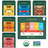 VAHDAM, Chai Tea Sampler, 5 TEAS - Tea Variety Pack | Assorted Chai Tea Bags | Cardamom Tea Bags, Cinnamon Tea Bags, Turmeric