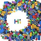Lightaling Building Bricks Compatible with Lego - 1000 Pieces Bulk Building Blocks in Random Color - Mixed Shape - Includes 2