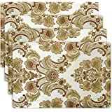 Grelucgo Luxury Damask Lined Table Placemats (12x18 inch) Set of 4