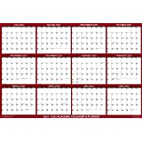 """32"""" x 48"""" SwiftGlimpse 2021-2022 Academic Wall Calendar Dry Erase Erasable, Large, Wet & Dry Erase Laminated, Yearly Planner,"""