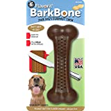 Pet Qwerks Flavorit Peanut Butter Flavor Infused Nylon BarkBone - Aggressive Chewers