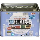 アサヒペン 水性多用途カラー 5L 白