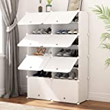 JOISCOPE Portable Shoe Storage Organzier Tower, Modular Cabinet Shelving for Space Saving, Shoe Rack shelves for shoes, boots