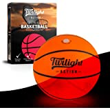 LED Light Up Basketball 2 Bright Inner Lights Glow in the Dark Night Play with International Standard Size Basketball, Perfec