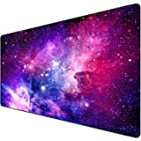 Gaming Mouse Pad, HaiZR Extended Large Mouse Mat with Stitched Edges, Premium-Textured Long XXL Desk Pad, Waterproof Keyboard