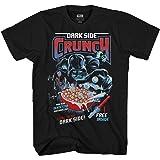 STAR WARS Darth Vader Dark Side Crunch Cereal Funny Humor Pun Adult Men's Graphic Tee T-Shirt