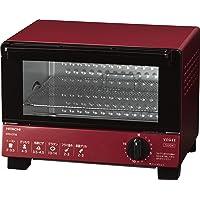 日立 オーブントースター 1,000W 角型パン2枚焼き HTO-CT35 R レッド