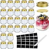 Mason Jars , Small Glass Jars ,Canning Jars With Regular Lids, Ideal for Overnight oats,Jam, Honey, Yogurt,Wedding Favors, Ba