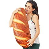 3Dシミュレーションパン枕 ソフト腰背クッション 面白い食べ物 ぬいぐるみ ホームデコレーションギフト用 (23.6インチ)