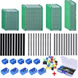 AUSTOR 100 Pcs PCB Board Kit Including 30 Pcs Double Sided Prototype Boards and 30 Pcs 40 Pin 2.54mm Male and Female Header C
