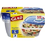 Glad Deep Dish Containers With Lids, 3s