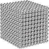 Shengshou 立体パズル バッキーボール 脳開発知恵玩具 セット 5mm 球型シルバー マグネットボール 磁石ボール 立体パズル バッキーボール おもちゃ 強力磁石 ストレス発散 丸い磁石 セット DIY・教育工具 創造性 形は自由自在に 子供