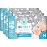The Honest Company Baby Diapers with TrueAbsorb Technology, Pandas, Size 0 Newborn, 128 Count