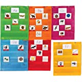 Learning Resources LER2386 Magnetic Pocket Chart Squares, Classroom/Teacher Organizer, All Grades, Set of 6