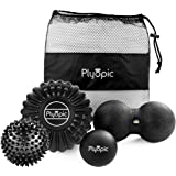 Top 3 Massage Balls Set – Lacrosse, Spiky and Foam Roller Massager Balls | For Deep Tissue Massage, Self Myofascial Release,