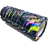 Hustle Foam Roller Firm High Density Exercise Deep Tissue Massage for Physical Therapy, Back Release and Muscle Recovery