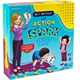 Action Verb Cards Floor Game, Interactive and Movement Kids Game, Educational Learning Materials for Children, Matching Cards