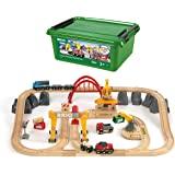 BRIO ( ブリオ ) WORLD カーゴレールデラックスセット [全54ピース] 対象年齢 3歳~ ( 電動車両 電車 おもちゃ 木製 レール ) 33097