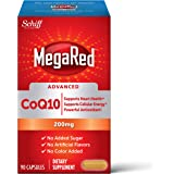 Megared CoQ10 Advanced 200mg Capsules, Supports Heart Health & Cellular Energy Production, Red, Unflavored, 90.0 Count