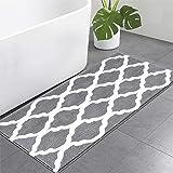 Pauwer Microfiber Large Bath Rug Runner for Bathroom, Non Slip Long Bath Floor Mats, Machine Washable Area Rug Absorbent Bath