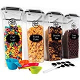 PLASTIC HOUSE Large Cereal Containers Storage Set Dispenser 4 Liter FITS FULL STANDARD SIZE CEREAL BOX, Airtight Cereal Conta