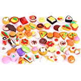 30 PCs Joanna Reid Collectible Set of Adorable Puzzle Kitchen Food Erasers Value Pack - No Duplicates - Puzzle Toys Best for