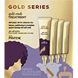 Pantene Gold Series Split Ends Treatment, for Curly and Coily Hair, Infused with Argan Oil, 0.5 Fl Oz (4 Pack)