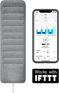 Withings フランス生まれのスマート睡眠パッド 睡眠サイクル分析 心拍計測 Sleep IFFFT対応【日本正規代理店品】 WSM02-ALL-JP