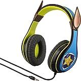 Paw Patrol Chase Kids Headphones, Adjustable Headband, Stereo Sound, 3.5Mm Jack, Wired Headphones for Kids, Tangle Free, Volu