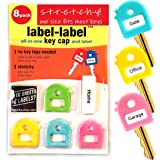 Key Cover & Tags Stretchy! Two--in-One- ONE SIZE FITS MOST KEYS -Key Tags Identify Tag (PASTEL)