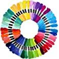Preium 50 skeins 8m Mercerized Multi-color Long-staple Embroidery Thread set Cross-stitch Floss Bracelets Floss Skeins Yarn F