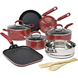 Goodful Premium Non-Stick Cookware Set, Dishwasher Safe Pots and Pans, Diamond Reinforced Coating, Made Without PFOA, 12-Piec
