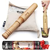 "BIG-SHOT 13.75"" Hard Maple Muddler Mallet & Lewis Ice Bag Kit by BARILLIO | Wooden Mojito Muddler Bar Tool Ice Crusher & Canv"