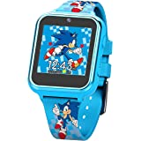Sonic the Hedgehog Touch-Screen Smartwatch, Built in Selfie-Camera, Non-Toxic, Easy-to-Buckle Strap, Blue Smartwatch - Model: