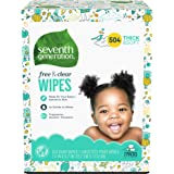Seventh Generation Baby Wipes, 504 count, Made for Sensitive Skin with Flip Top Dispenser