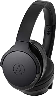 Audio-Technica ATH-ANC900BT QuietPoint Wireless Active Noise Cancellation Bluetooth Over-Ear Headphones, Black