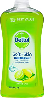 Dettol Anti-Bacterial Hand Wash Refresh Refill Disinfecting, 950ml