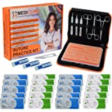 Suture Practice Kit for Suture Training Including Latest Reusable Silicone Skin Pad with Skid Base & Premium Suture Tools for
