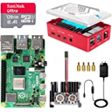 LABISTS Raspberry Pi 4 Complete Kit with Pi 4 Model B 8GB RAM Board, 128GB Micro SD Card, 5V 3A Power Supply, Cooling Fan and