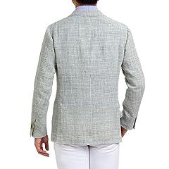 Water Linen Glen Plaid Jacket: Grey